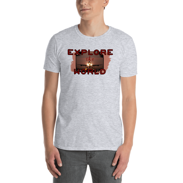 Explore The World0014 Gildan 64000 Unisex Softstyle T-Shirt with Tear Away Label