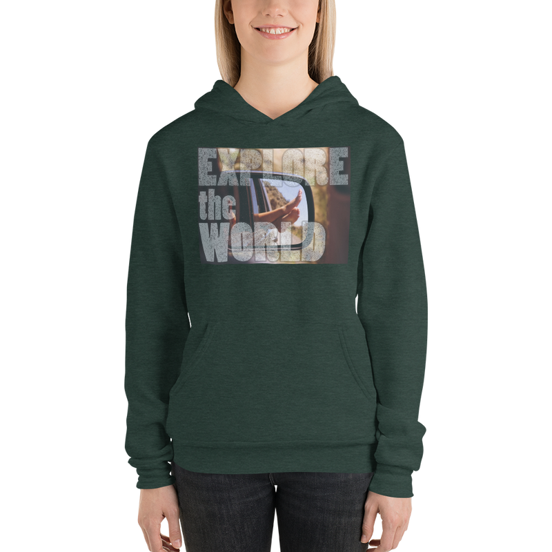 Explore The World0020 Bella + Canvas 3719 Unisex Fleece Pullover Hoodie