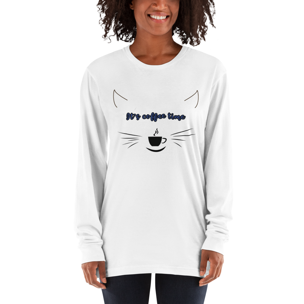 Its Coffee Time37 American Apparel 2007 Unisex Fine Jersey Long Sleeve T-Shirt Comfy style