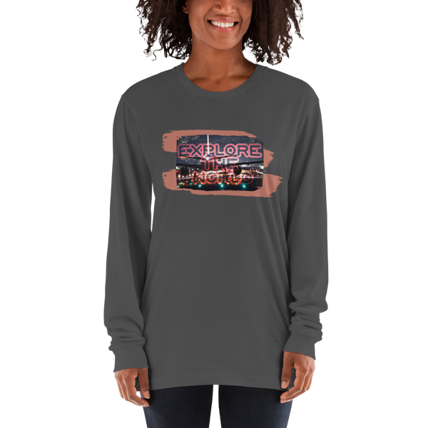 Explore The world026 American Apparel 2007 Unisex Fine Jersey Long Sleeve T-Shirt Comfy style