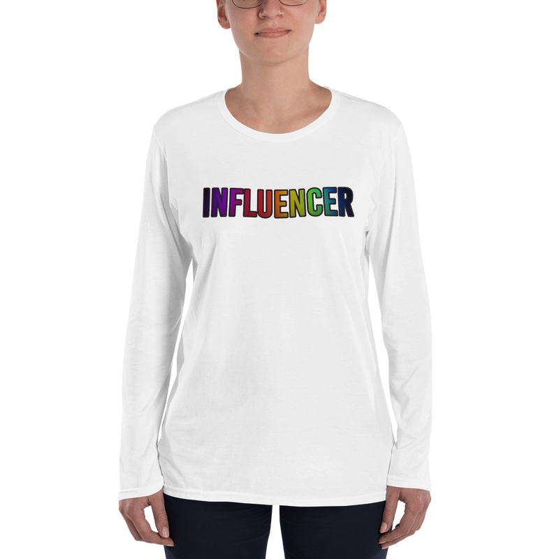 Influencer010 Anvil 884L Women's Lightweight Long Sleeve Tee with Tear Away Label