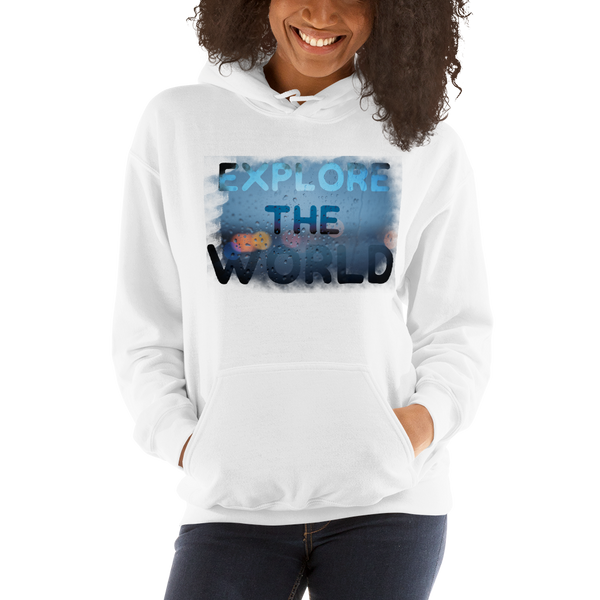 Explore The World0028 Gildan 18500 Unisex Heavy Blend Hooded Sweatshirt