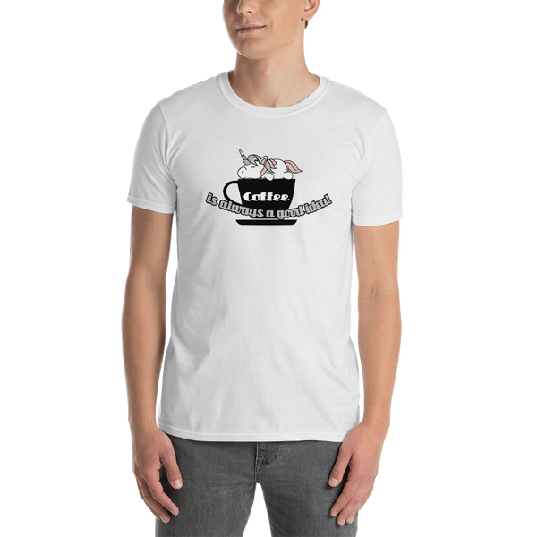 It's coffee time032 Gildan 64000 Unisex Softstyle T-Shirt with Tear Away Label