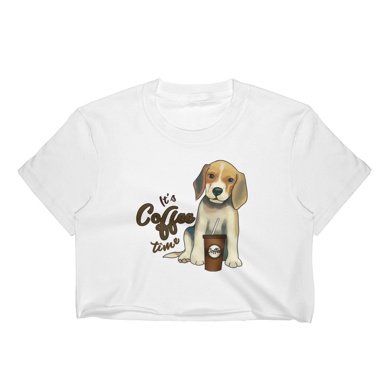 Its Coffee Time016 Women's Crop Top