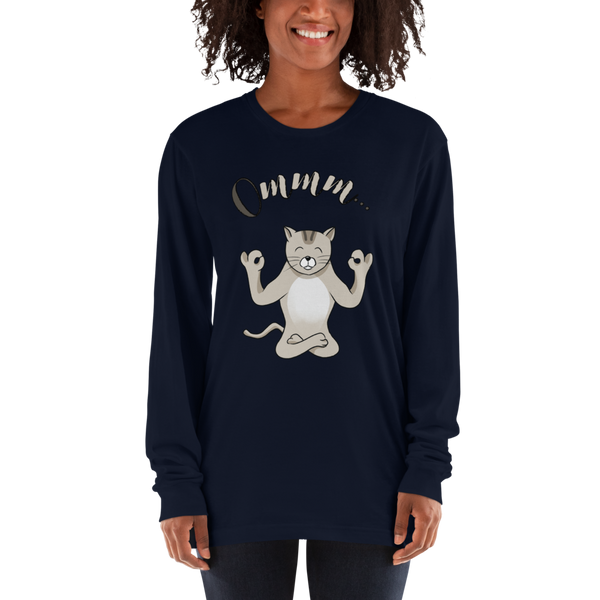 It's Yoga Time034 American Apparel 2007 Unisex Fine Jersey Long Sleeve T-Shirt Comfy style