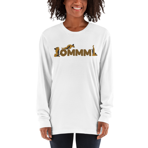 It's Yoga Time047 American Apparel 2007 Unisex Fine Jersey Long Sleeve T-Shirt Comfy style