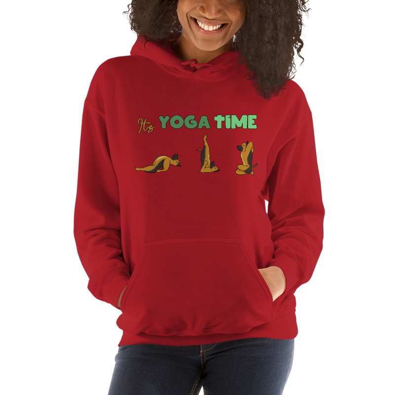 It's Yoga Time008 Gildan 18500 Unisex Heavy Blend Hooded Sweatshirt Heavy blend