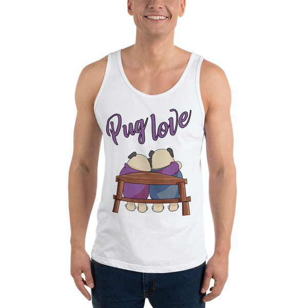 Pug love10 Bella + Canvas 3480 Unisex Jersey Tank with Tear Away Label