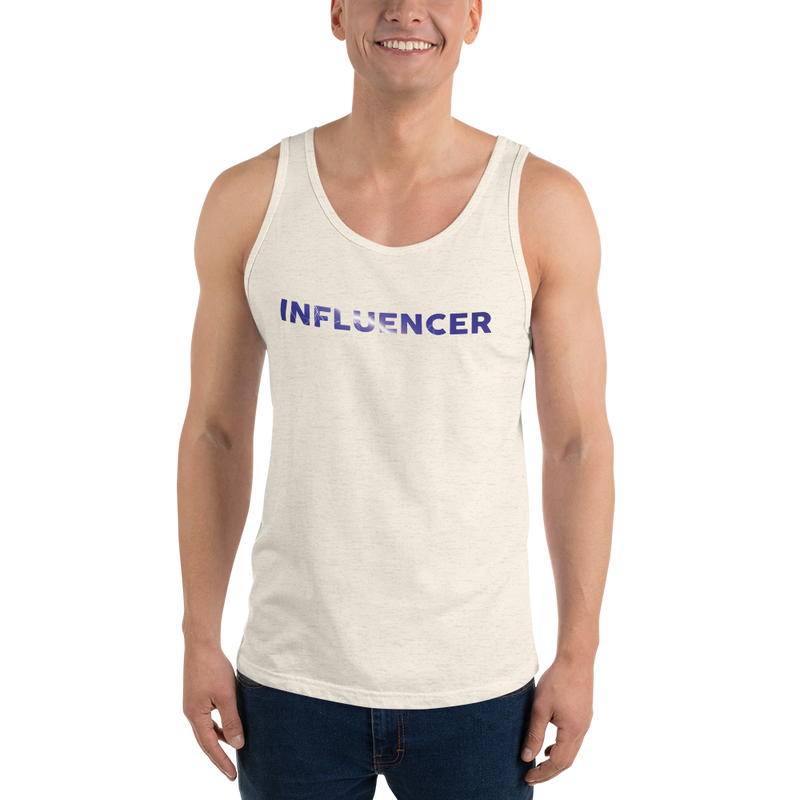 Influencer0059 Bella + Canvas 3480 Unisex Jersey Tank with Tear Away Label