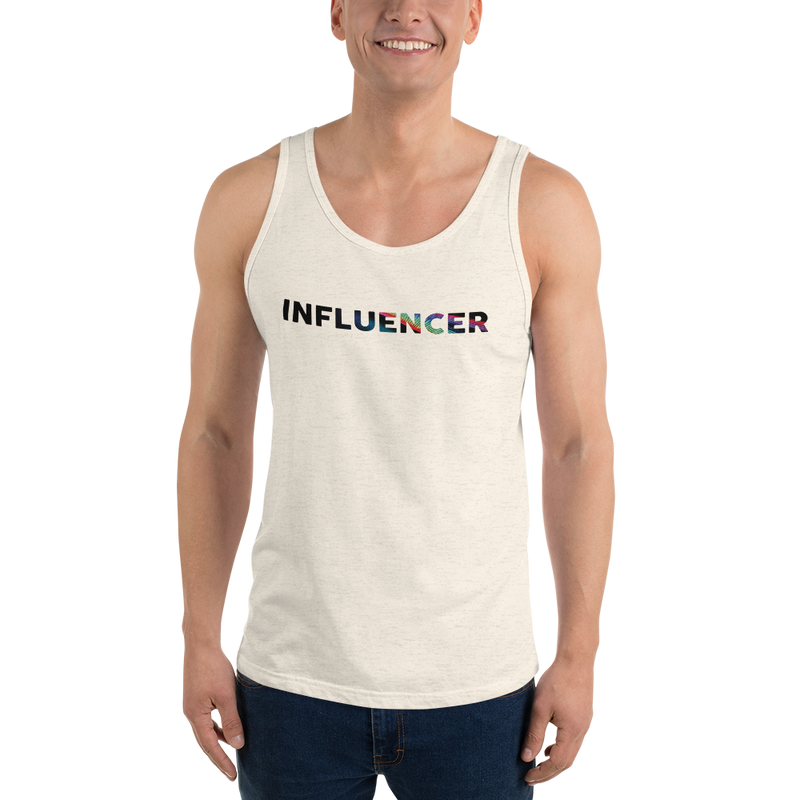 Influencer0055 Bella + Canvas 3480 Unisex Jersey Tank with Tear Away Label