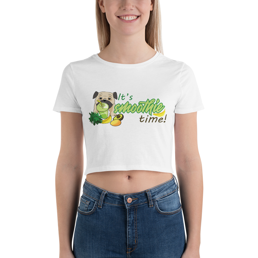 It's smoothie time10 Bella + Canvas 6681 Women's Crop Tee Tight fit