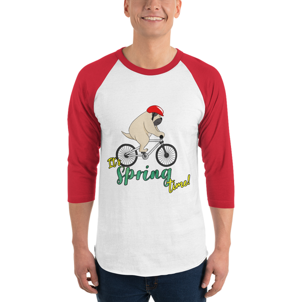 It's Spring Time19 Tultex 245 Unisex Fine Jersey Raglan Tee w/ Tear Away Label