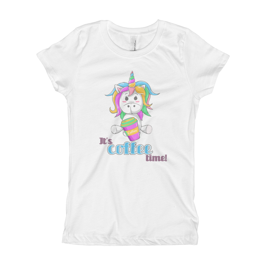 Its Coffee Time36 Girl's The Princess Tee with Tear Away Label