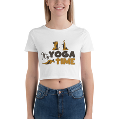 It's Yoga Time049 Bella + Canvas 6681 Women's Crop Tee Tight fit