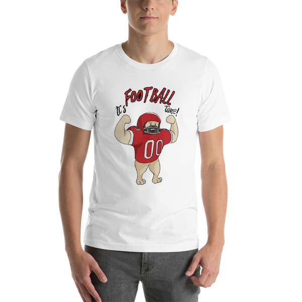 It's Football Time23 Bella + canvas 3001 unisex  Jersey Style