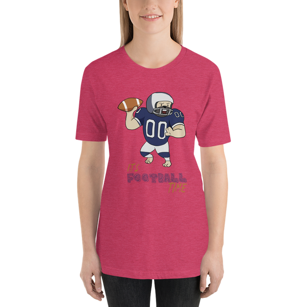 It's football time07 Bella + canvas 3001 unisex Jersey Style