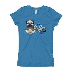 Its Coffee Time17 Girl's The Princess Tee with Tear Away Label