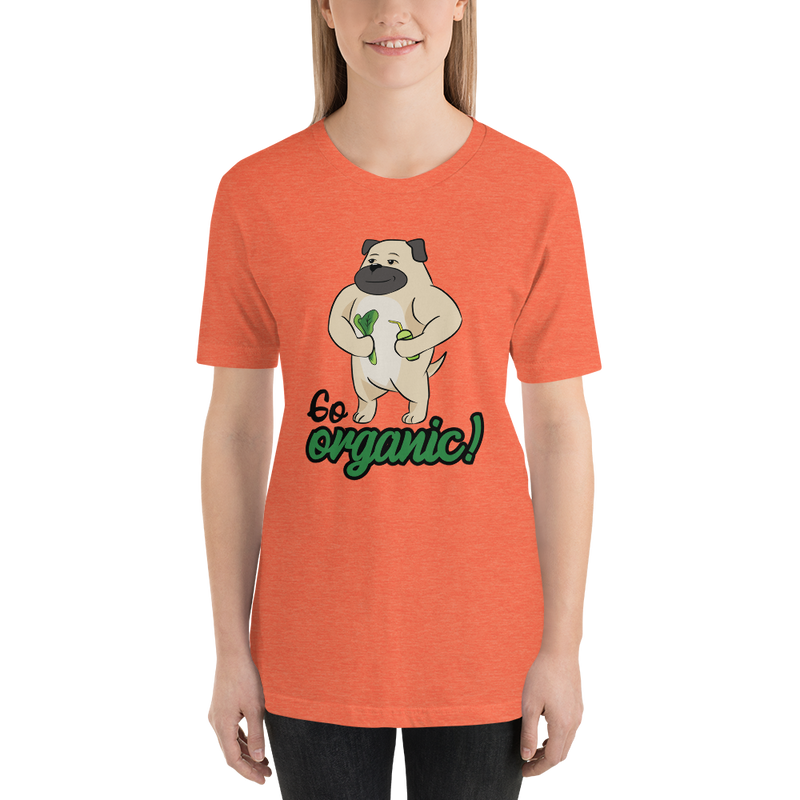 Go Organic002 Bella + Canvas 3001 Unisex Short Sleeve Jersey T-Shirt with Tear Away Label