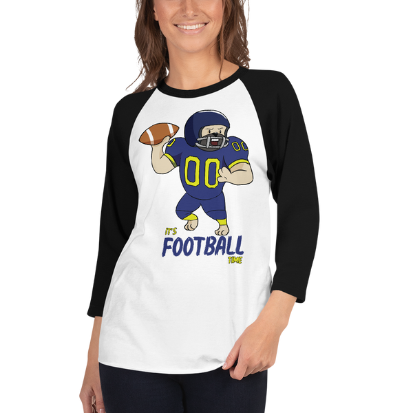 It's Football Time01 Tultex 245 Unisex Fine Jersey Raglan Tee w/ Tear Away Label