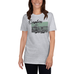 Explore The World0013 Gildan 64000 Unisex Softstyle T-Shirt with Tear Away Label