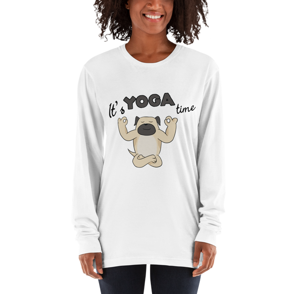 It's Yoga Time024 American Apparel 2007 Unisex Fine Jersey Long Sleeve T-Shirt Comfy style