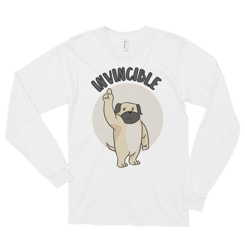 Invincible002 American Apparel 2007 Unisex Fine Jersey Long Sleeve T-Shirt