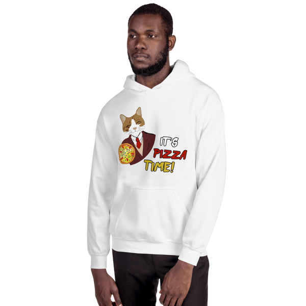 It's Pizza Time01 Gildan 18500 Unisex Heavy Blend Hooded Sweatshirt