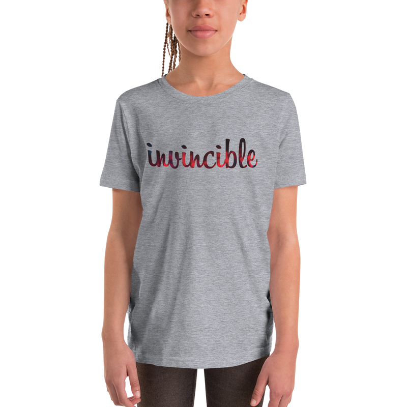 Invincible018 Bella + Canvas 3001Y Youth Short Sleeve Tee with Tear Away Label