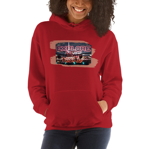 Explore The World0026Gildan 18500 Unisex Heavy Blend Hooded Sweatshirt