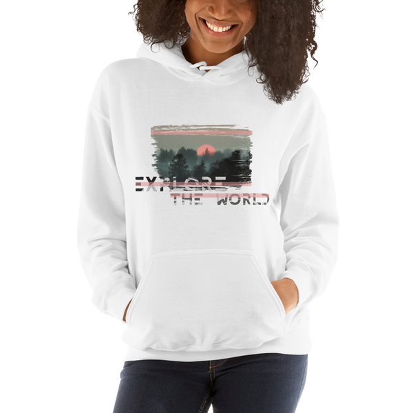 Explore The World0024 Gildan 18500 Unisex Heavy Blend Hooded Sweatshirt