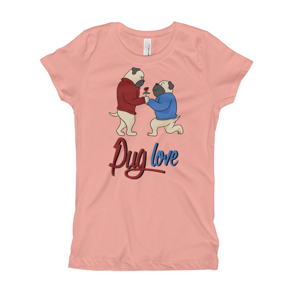 Pug Luv07 Girl's T-Shirt
