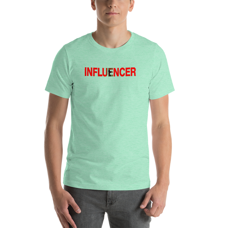 Influencer00148  Bella + Canvas 3001 Unisex Short Sleeve Jersey T-Shirt with Tear Away Label