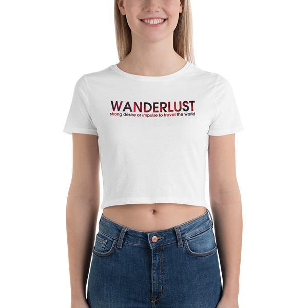 Wanderlust042 Bella + Canvas 6681 Women's Crop Tee Tight fit