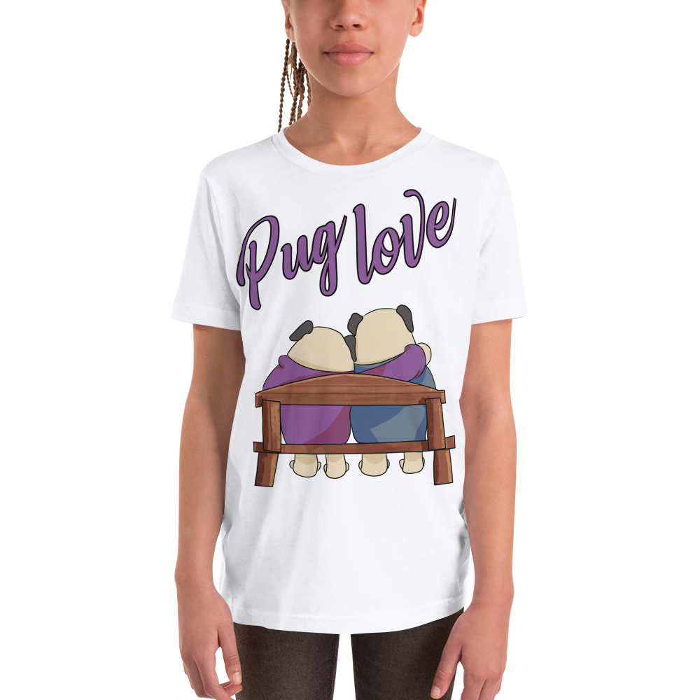 Pug Luv10 Youth Short Sleeve T-Shirt