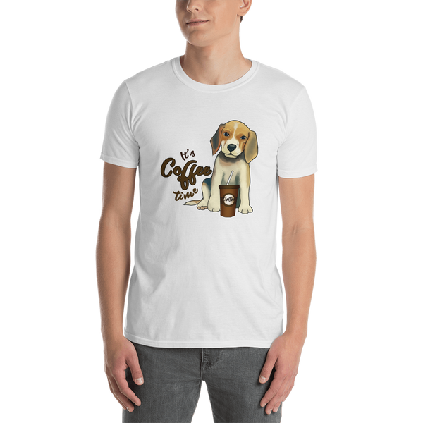 It's coffee time016 Gildan 64000 Unisex Softstyle T-Shirt with Tear Away Label