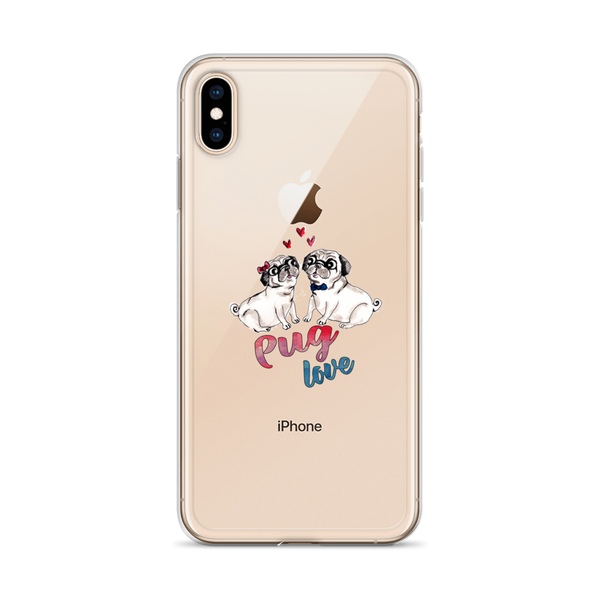 Pug love02 iPhone Case