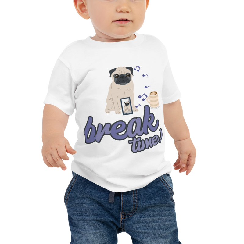 It's Break Time001 Bella + Canvas 3001B Baby Jersey Short Sleeve Tee with Tear Away Label