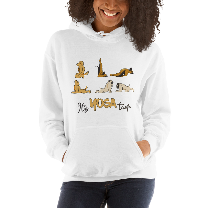 It's Yoga Time012 Gildan 18500 Unisex Heavy Blend Hooded Sweatshirt Heavy blend