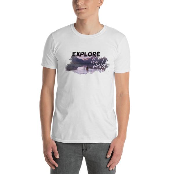 Explore The world006Gildan 64000 Unisex Softstyle T-Shirt with Tear Away Label