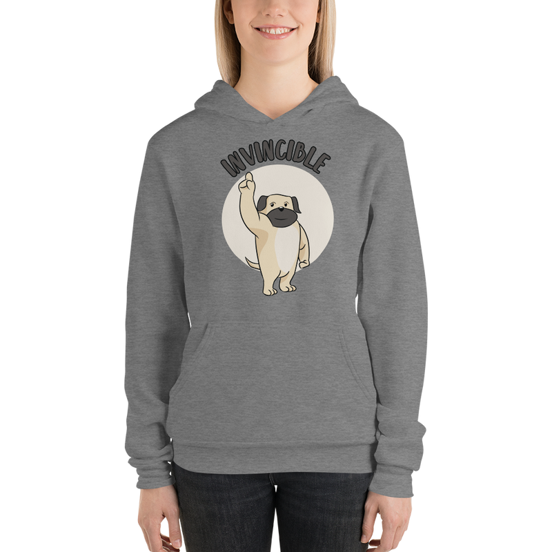 Invincible002 Bella + Canvas 3719 Unisex Fleece Pullover Hoodie