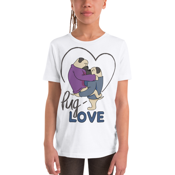 Pug Luv13 Youth Short Sleeve T-Shirt