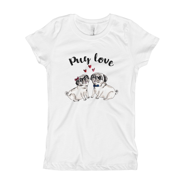 Pug Luv01 Girl's T-Shirt