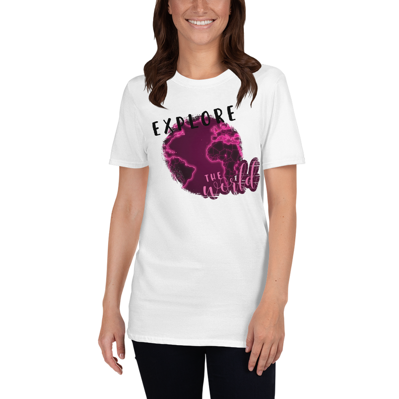 Explore The World0027 Gildan 64000 Unisex Softstyle T-Shirt with Tear Away Label
