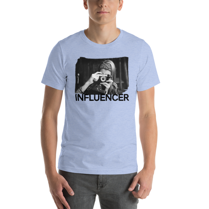 Influencer0052 Bella + Canvas 3001 Unisex Short Sleeve Jersey T-Shirt with Tear Away Label
