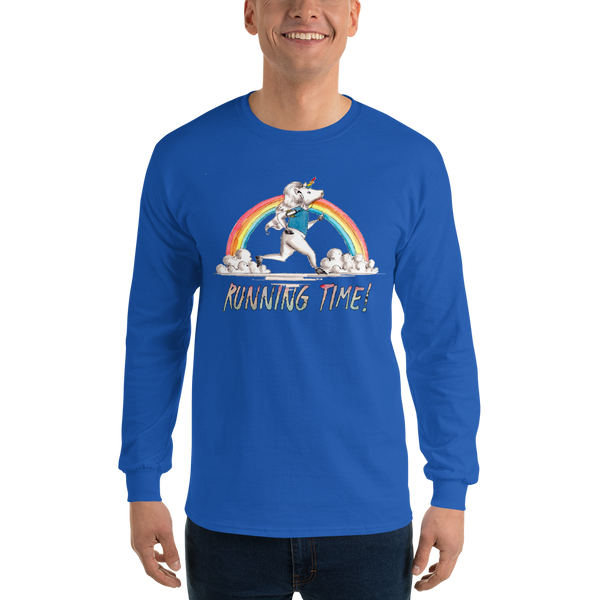 It's Running Time01 Gildan 2400 Ultra Cotton Long Sleeve T-Shirt