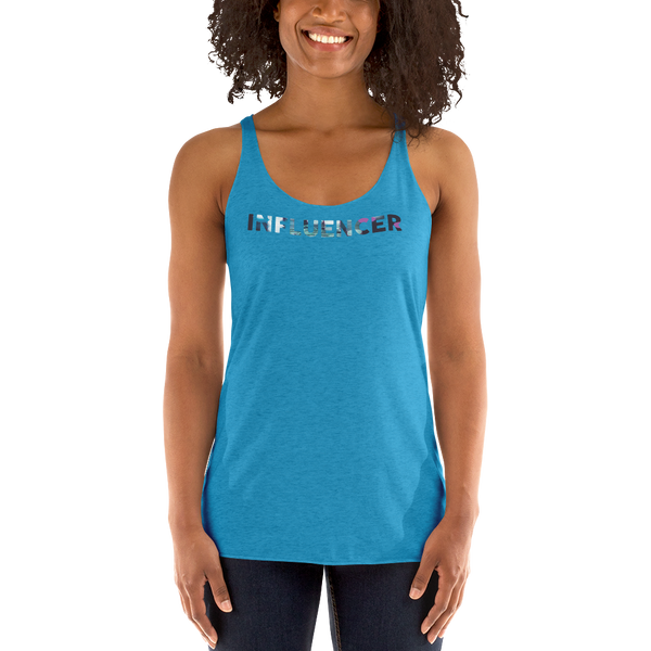 Influencer077 Next Level 6733 Ladies' Triblend Racerback Tank Triblend Racerback Tank
