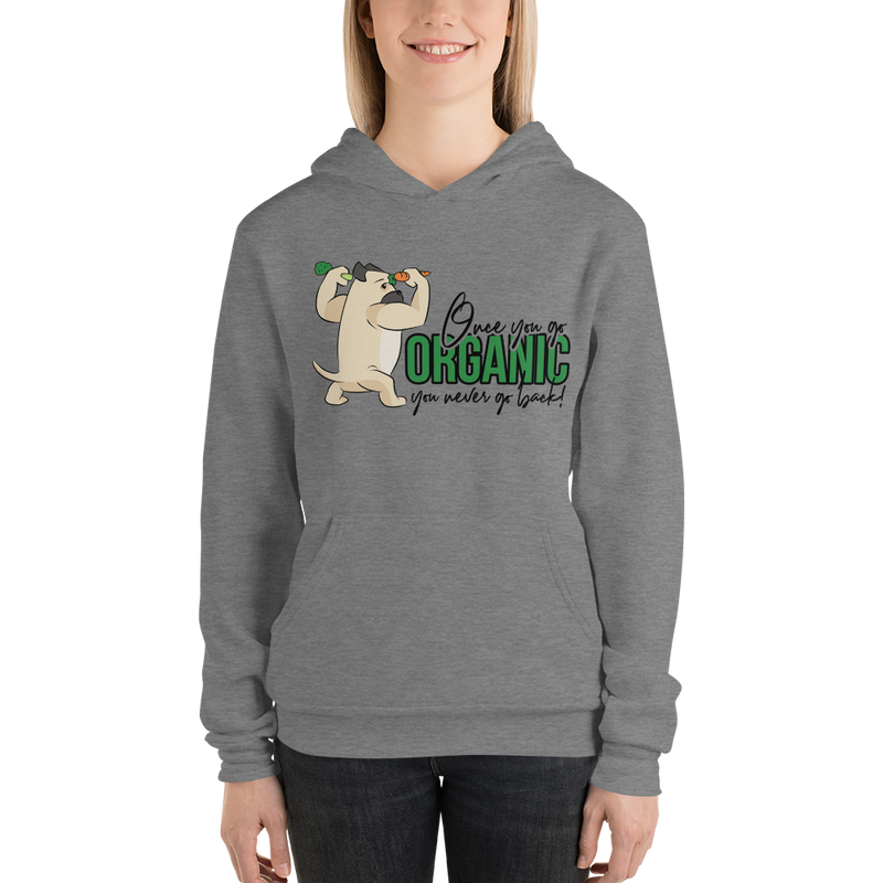 Go Organic004 Bella + Canvas 3719 Unisex Fleece Pullover Hoodie