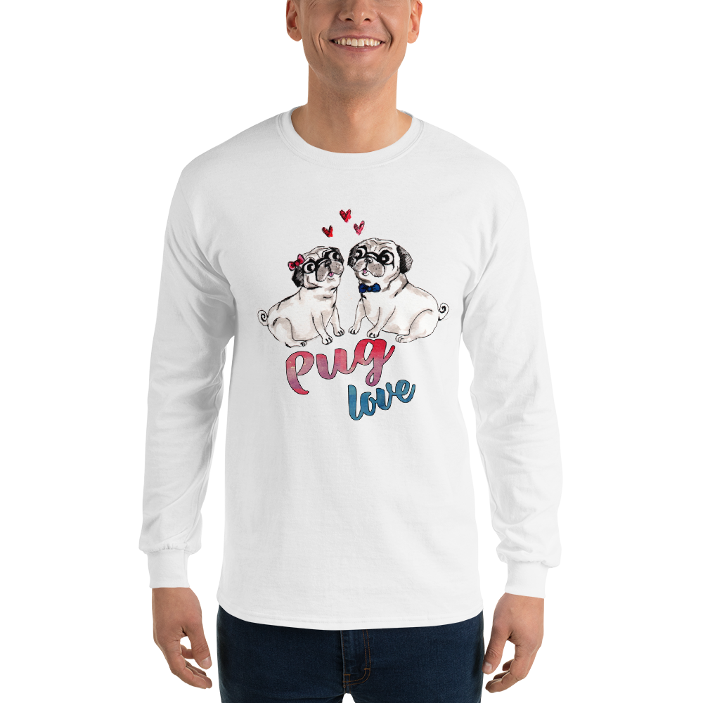 Pug Love02 Gildan 2400 Ultra Cotton Long Sleeve T-Shirt