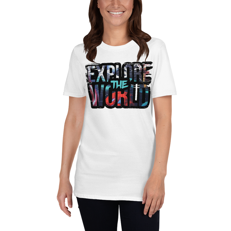 Explore The World0022 Gildan 64000 Unisex Softstyle T-Shirt with Tear Away Label