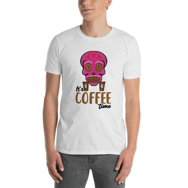 It's coffee time060 Gildan 64000 Unisex Softstyle T-Shirt with Tear Away Label